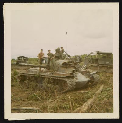 Thomas Kubeck on tank