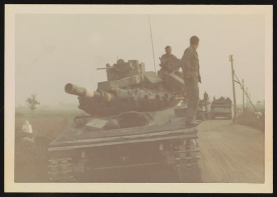 My Tank - Soldiers taking a break on Highway 1