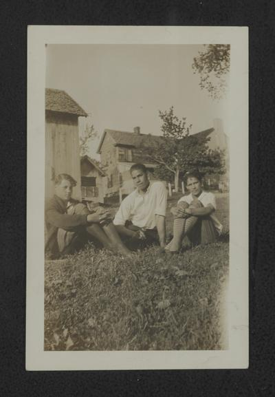 Lyman T. Johnson and two unidentified persons, Knoxville College