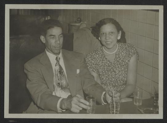 Lyman T. Johnson and wife, Juanita Morrell Johnson at Top Hat Night Club, Old Walnut Street, Louisville