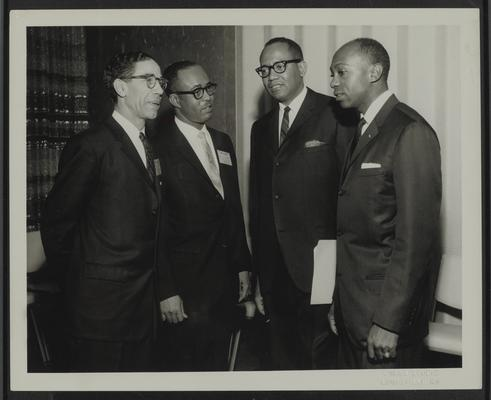 NAACP (National Association for the Advancement of Colored People) Region III Conference, Louisville, Senator Leroy Johnson is third from left