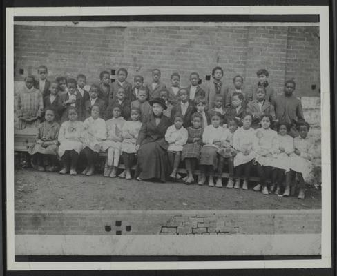 Second Grade, College Hill School, teacher Queenie Moore (Lyman T. Johnson is 9 from left, second row)