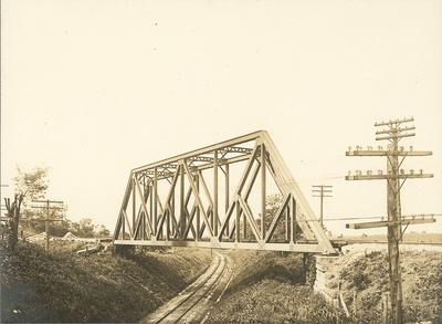 Railroad tracks running under the railroad tracks of High Bridge