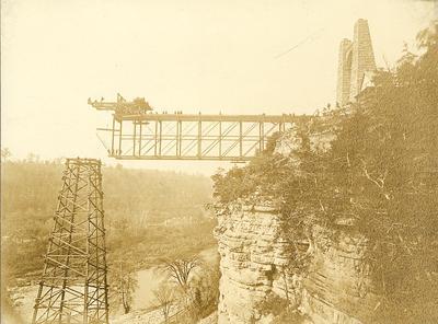 Men working to construct High Bridge