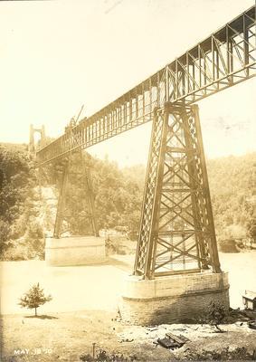 Crane on High Bridge doing construction