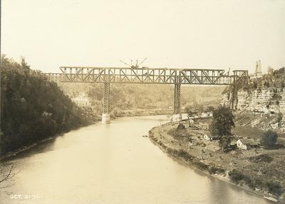 High Bridge under construction