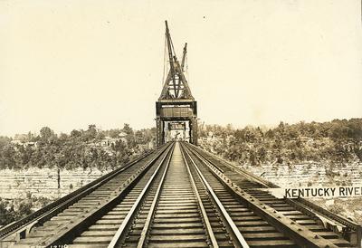 Railroad tracks of High Bridge-Kentucky River sign
