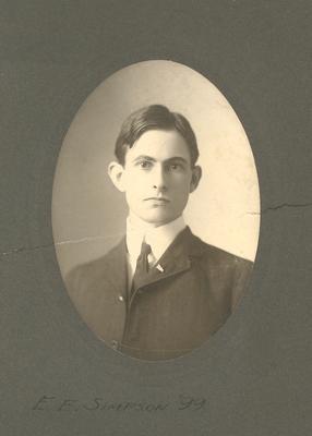 Portrait of Eugene Erwin Simpson 1899-1902; Gift of T.R. Bryans