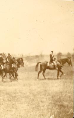 Spanish War drill in Lexington, KY-men on horses