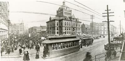 Lexington Street Car Center-opposite the Court House U.A. Collection