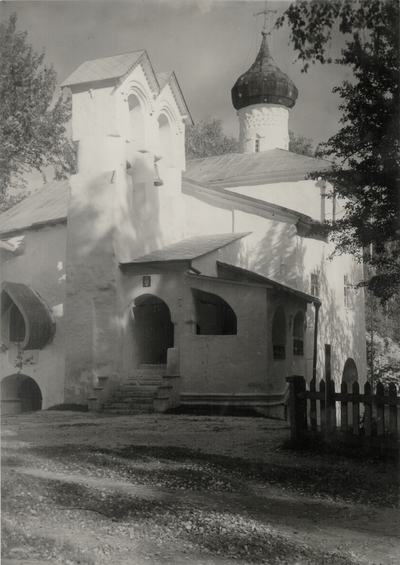 Monastery at Petseri, Estonia; photo purchased by John Jacob and Rena Niles while on winter Honeymoon