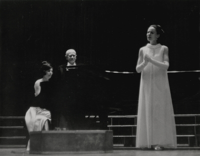 Performance; Left to Right: Janelle Pope, John Jacob Niles, and Jacqueline Roberts