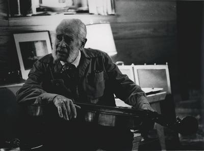John Jacob Niles with dulcimer