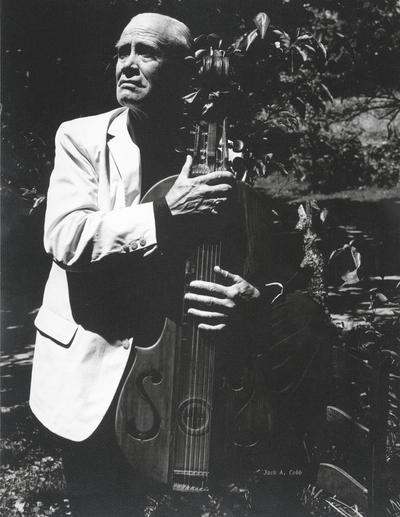 John Jacob Niles with dulcimer; Boot Hill Farm; Jack Cobb