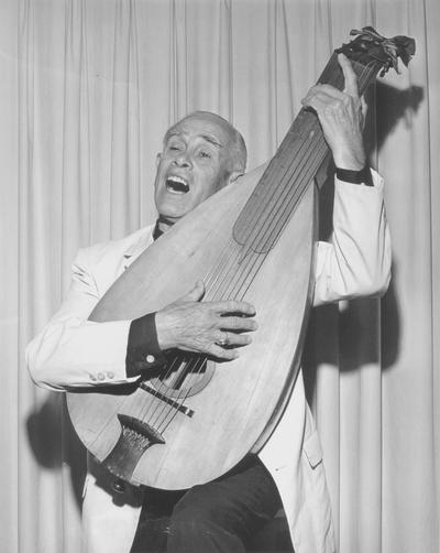 Performance by John Jacob Niles at National Folk Festival; Covington, KY; Jerry Reagan