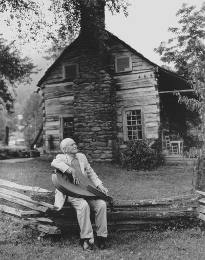 Performance by John Jacob Niles at Fontana Dam, North Carolina; Joe Dyer, Jr