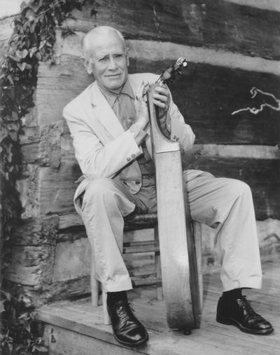Performance by John Jacob Niles at Fontana Dam, North Carolina; Joe Dyer, Jr