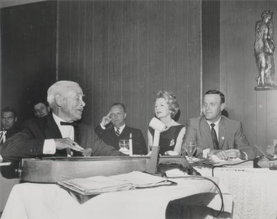 Performance by John Jacob Niles at World's Fair; Kentucky Governor Edward Breathitt (far right); New York City