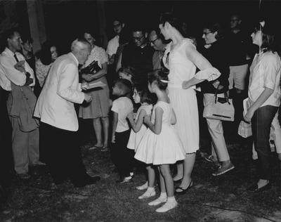 Performance by John Jacob Niles at Orkney Springs, Virginia; Woodstock Photo; Woodstock, Virginia