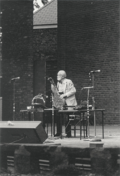 Performance by John Jacob Niles at Kentucky Music Weekend; Iroquois Amphitheatre; Louisville, KY; John L. Brown Jr