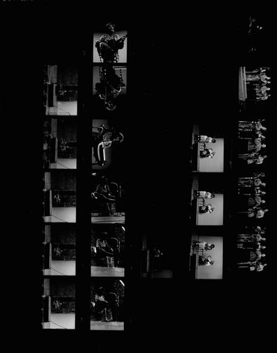Copy print of performance by John Jacob Niles at Kentucky Music Weekend; Iroquois Amphitheatre; Louisville, KY; John L. Brown Jr