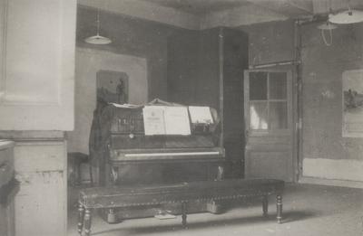 John Jacob Niles' Studio in Lyon, France where he practiced while attending Universite' de Lyon