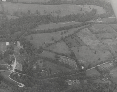 Aerial view of Boot Hill Farm; Helm Roberts