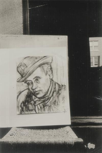 Sketch of John Jacob Niles from a drawing by one of the Scheffersy family