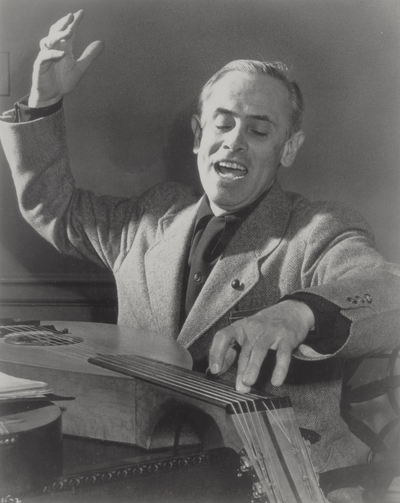 John Jacob Niles posed with dulcimer; George Kossuth