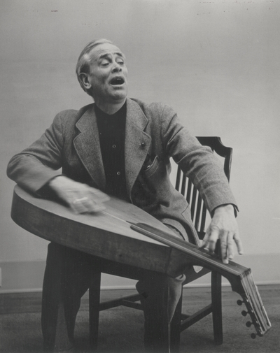 John Jacob Niles with dulcimer