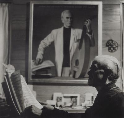 John Jacob Niles with dulcimer/piano; Boot Hill Farm; Eugene Meatyard