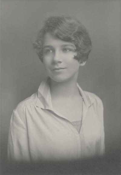 Rena Lipetz (Niles) high school graduation portrait; Saratoga Springs, New York; Gustave Lorey