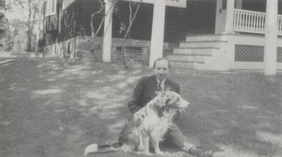 Three Lipetz family snapshots taken at Slingerland's home in New York; Harold Slingerland