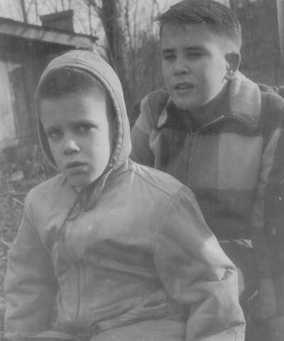 Tom and John Ed Niles; various snapshots; Boot Hill Farm
