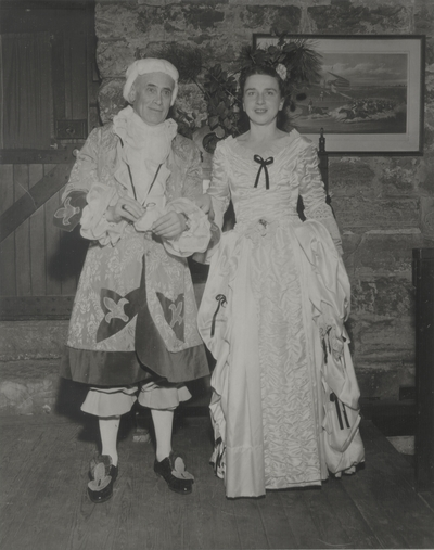 John Jacob and Rena Niles in costume for Iroquois Hunt Club Sesquicentennial Ball