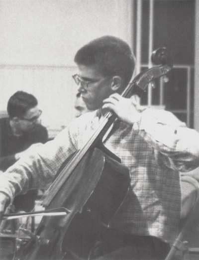 John Ed Niles, age 14 or 15 on rehearsal night with Lexington Symphony