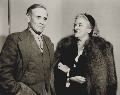 John Jacob Niles with an unidentified woman