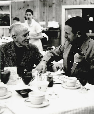 John Jacob Niles with Jess D. Wilson (right)