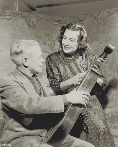 John Jacob Niles with Gladys Swarthout, taken at her apartment; New York City