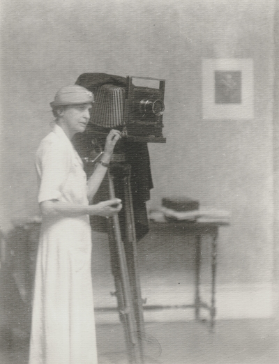 Doris Ulmann with her camera; John Jacob Niles