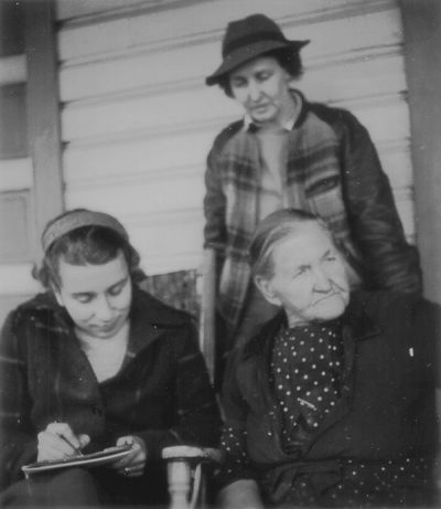 Aunt Becky McLemore with Rena Niles and unidentified woman,
