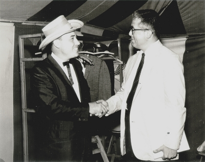 Earl Scruggs (left) appeared at Festival with John Jacob Niles; New Bedford, Massachusetts
