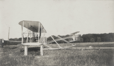 Side view of Wright Brother's airship; original machine; Paul Thompson