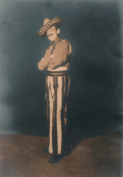 John Jacob Niles in mariachi dress