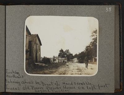 Hardscrabble. Looking northeast taking about in front of Lucas old barn. Brooks home on left just beyond turkey
