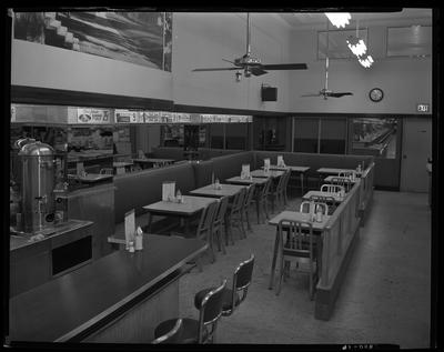 S.S. Kresge & Company (156, 250 West Main); interior;                             dining area
