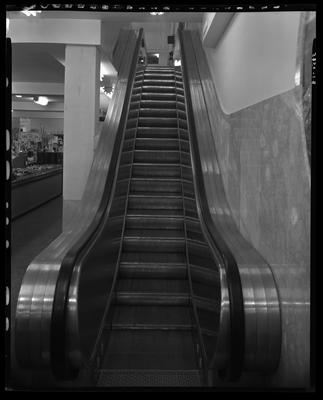 S.S. Kresge & Company (156, 250 West Main); interior;                             escalator