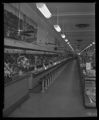 S.S. Kresge & Company (156, 250 West Main); interior;                             lunch counter