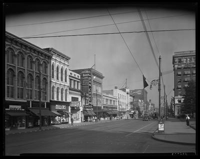 S.S. Kresge & Company (156, 250 West Main); exterior;                             street scene