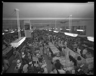 S.S. Kresge & Company (156, 250 West Main); interior;                             people shopping